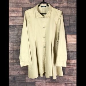 VITAMIN Lagenlook layering jacket Taupe Khaki Med